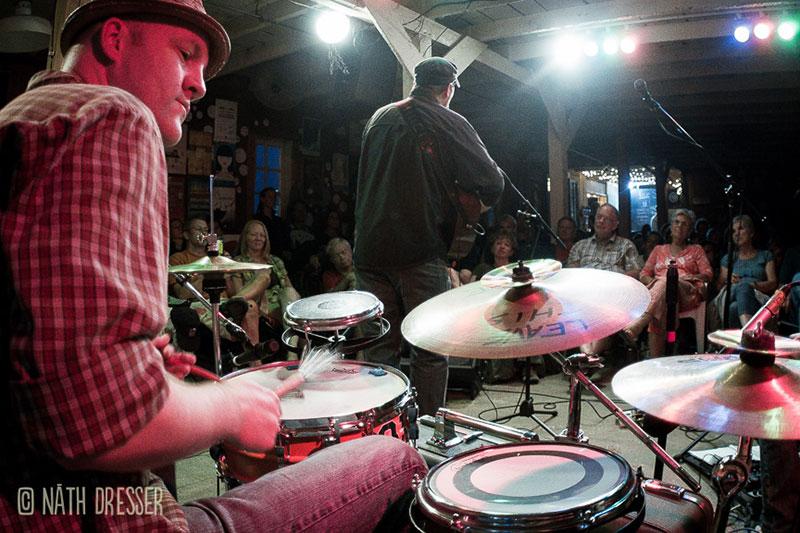 nathan kilen playing suitcase drum set live