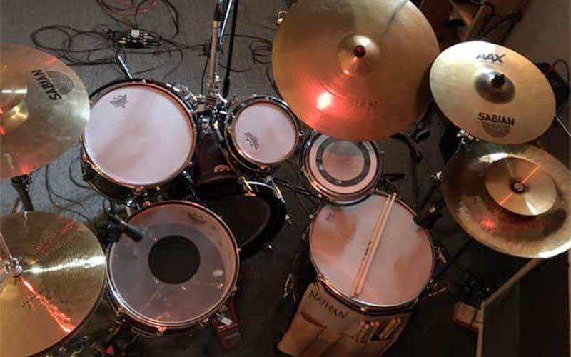 recording studio drum kit